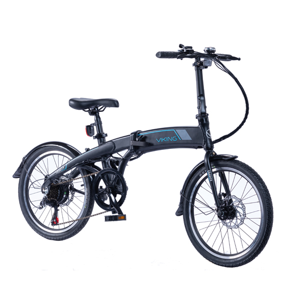 Viking Gravity 6sp 24V 250W Alloy Folding Electric Bike with 20inch Wheel Black