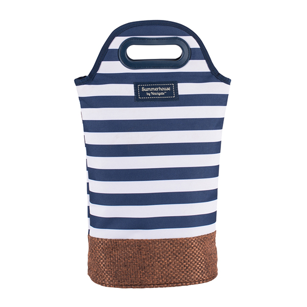 Navy Insulated Bottle Carrier No Colour