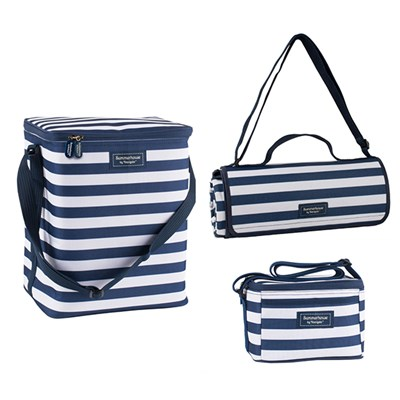 Upright Family Cool Bag, Personal Cool Bag & Extra Large Picnic Blanket Bundle