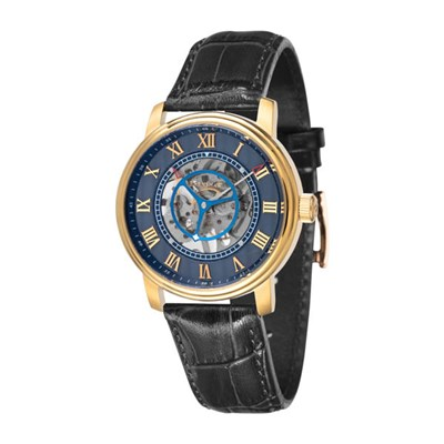 Thomas Earnshaw Gents Westminster Stephenson Skeleton Watch, Genuine Leather Strap & Complimentary Gift