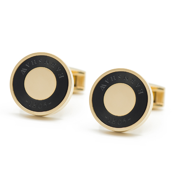 Thomas Earnshaw Cufflinks Black/Gold