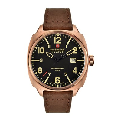 Swiss Military by Hanowa Gent's IP Aeronautica Watch with Genuine Leather Strap