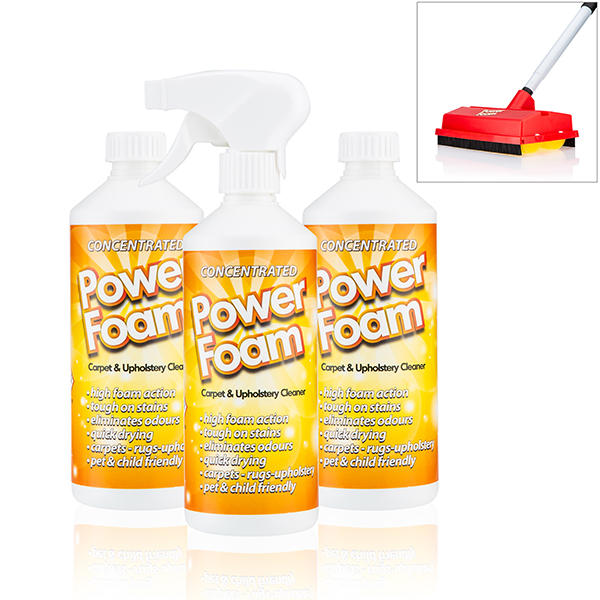 Carpet Power Kit with Power Foam 500ml (Triple Pack) and Power Foam Roller Brush No Colour