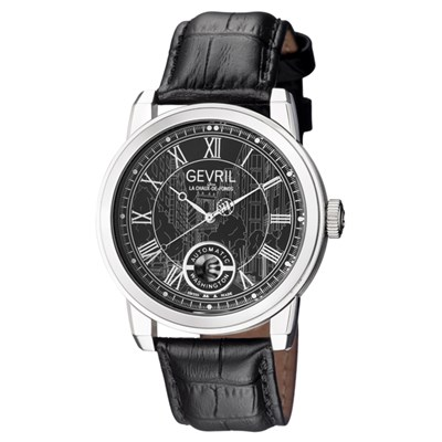 Gevril Gent's Washington Ltd Edt Swiss Automatic Ruben & Sons Movement Watch with Genuine Leather Strap & Pen