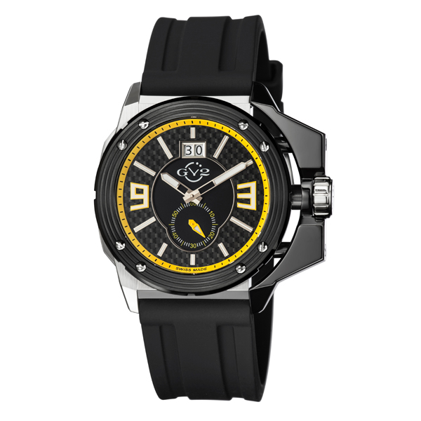 GV2 Gent's Grande Ltd Edt Swiss Watch with Silicone Strap Yellow
