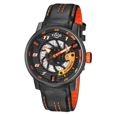 GV2 Gent's Motor Cycle Sport Ltd Edt Swiss Automatic Ruben & Sons Movement Watch with Genuine Leather Strap & Pen