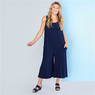 Kasara Cropped Jumpsuit with Pockets