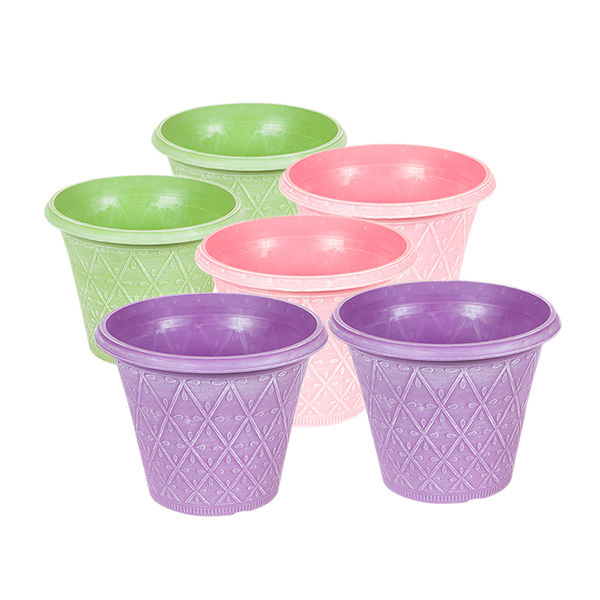 Prisma Pastel Coloured Planters 12inch (6 Pack) No Colour