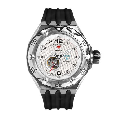 Swiss Legend Gent's Traident Automatic Watch with Silicone Strap