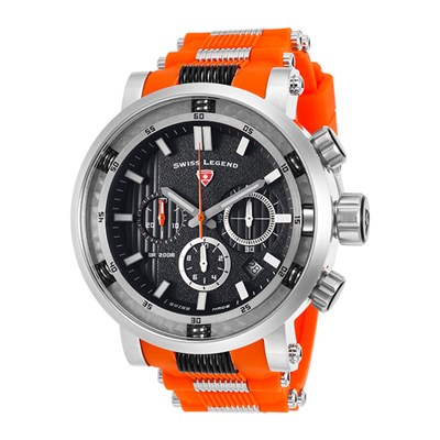 Swiss Legend Gent's Dragonet Watch with Silicone Strap
