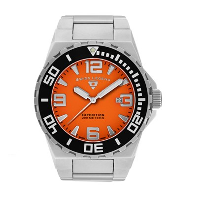 Swiss Legend Gent's Expedition Watch with Stainless Steel Bracelet