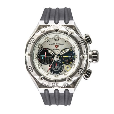 Swiss Legend Gent's Trident Chronograph Watch with Silicone Strap