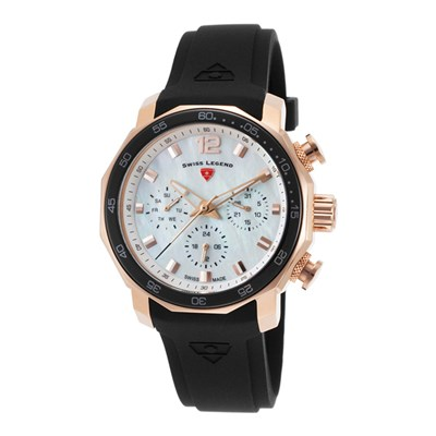 Swiss Legend Ladies' Blue Geneve with Silicone Strap