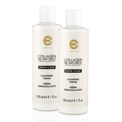 Elizabeth Grant Collagen Re-Inforce Snow Algae Cleansing Cream 240ml (Twin Pack)