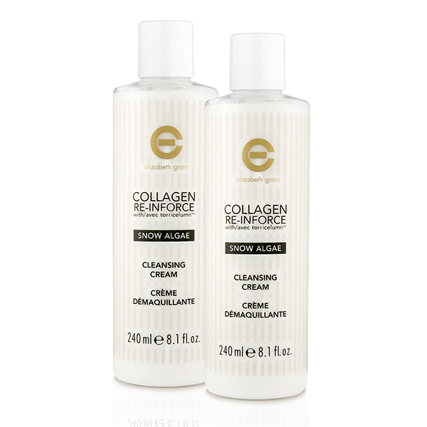 Elizabeth Grant Collagen Re-Inforce Snow Algae Cleansing Cream 240ml (Twin Pack) No Colour