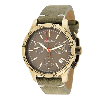 Mathey-Tissot Gent's Ltd Edt PVD Plated Type 22 Chronograph Watch & Interchangeable Strap & Wallet