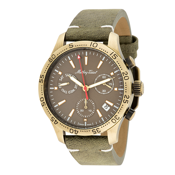 Mathey-Tissot Gent's Ltd Edt PVD Plated Type 22 Chronograph Watch & Interchangeable Strap Green