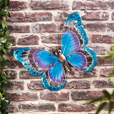 Butterfly Wall Art (Metal & Glass)