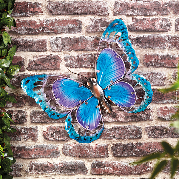 Butterfly Wall Art (Metal & Glass) No Colour