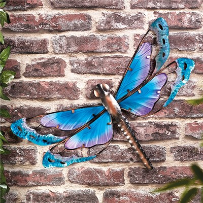 Dragonfly Wall Art (Metal & Glass)