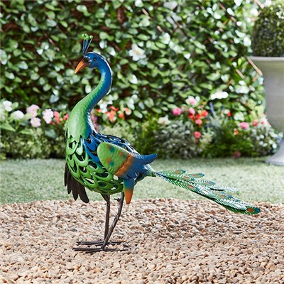 Metal Peacock Garden Ornament