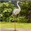 Metal Heron Garden Ornament - Model G4021