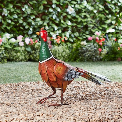 Metal Pheasant Garden Ornament