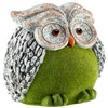Flocked Effect Owl Garden Ornament - Model G4015