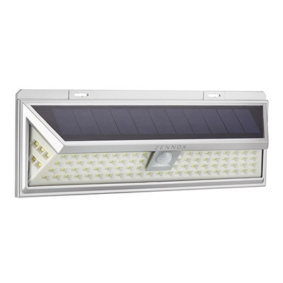 Solar 86 LED Pir Security Light Silver