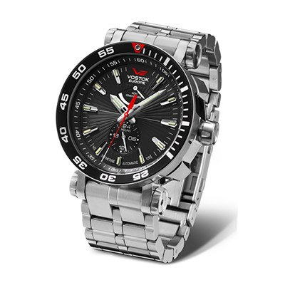 Vostok Europe Gent's Energia Rocket with Power Reserve Stainless Steel Case with Interchangeable Strap and Dry Box