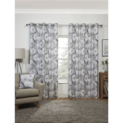 Amelia Eyelet Curtains 90 x 90-inches