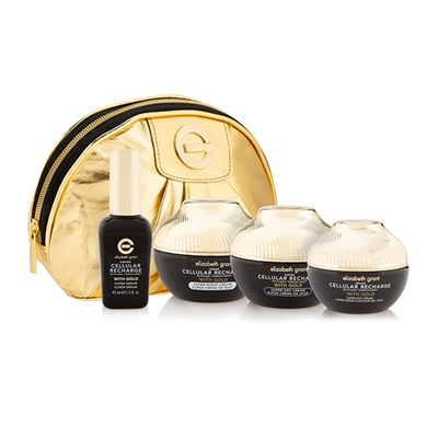 Elizabeth Grant Caviar 4pc Collection with Bonus Gold Cosmetics Bag