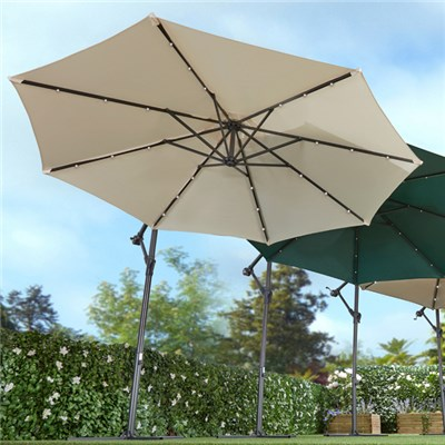 Cantilever Parasol with Lights