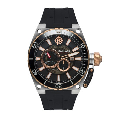 Ballast Gent's Valiant Regulator Automatic Watch with Silicone Strap