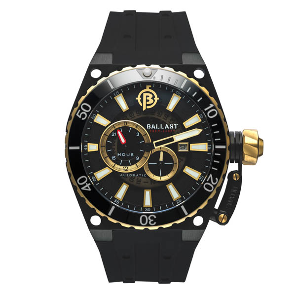 Ballast Gent's Valiant Regulator Automatic Watch with Silicone Strap Gold