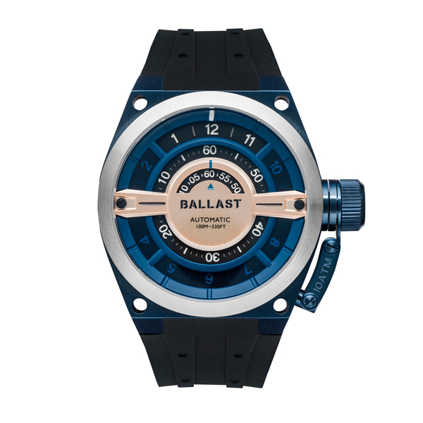 Ballast Gent's Valiant Gauge Automatic Watch with Silicone Strap Blue