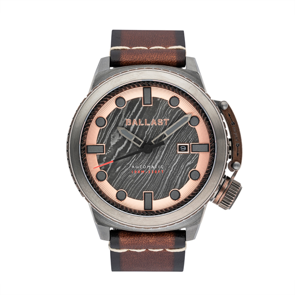 Ballast Gent's Trafalgar Triumph Automatic Watch with Genuine Leather Strap Brown