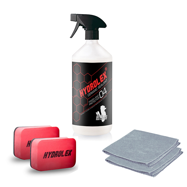 Hydrolex Ceramic Sealant 500ml Paint Protection with Applicators and Microfibre Cloths No Colour