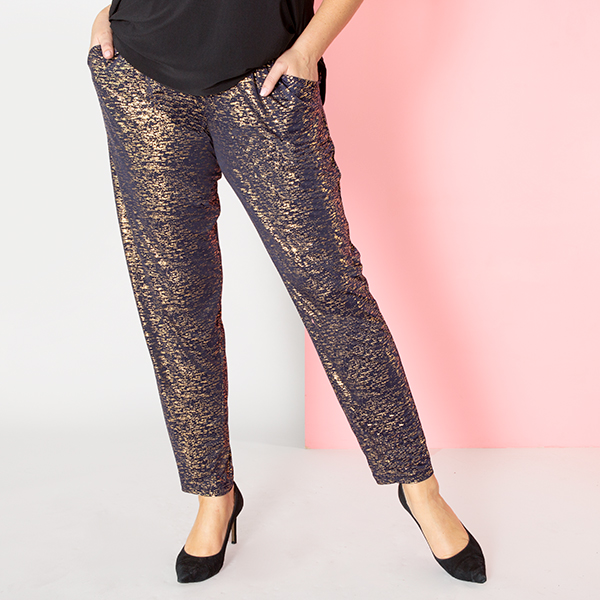 Kasara Sparkle Trouser Navy/Gold