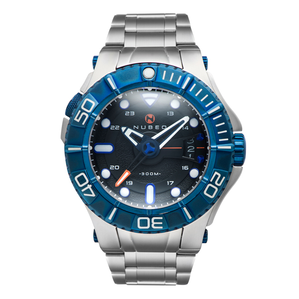 Nubeo Gent's Manta Automatic Watch with Stainless Steel Strap Blue/Black