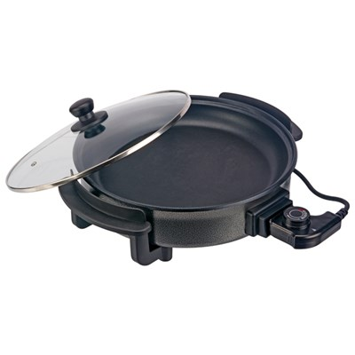 Cooks Professional Electric Frying Pan with Glass Lid