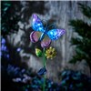 Garden Gear Hand-Painted Glass Solar Lights - Butterfly