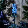 Garden Gear Hand-Painted Glass Solar Lights  - Light Blue Hyacinth