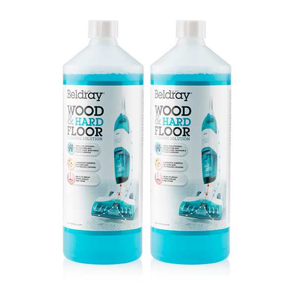 Beldray Wood & Hard Floor Cleaning Solution 1L (Twin Pack) No Colour