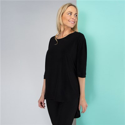 Kasara 3/4 Sleeve Dip Back Top