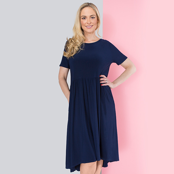 Nicole Pocket Dress Navy