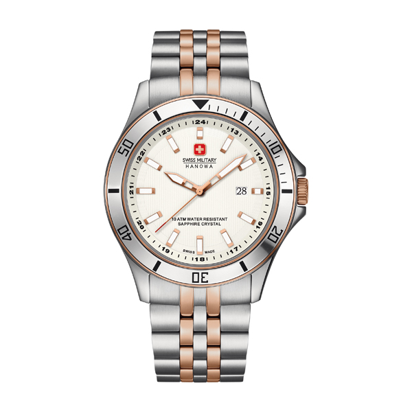 Swiss Military by Hanowa Gent's Flagship Watch with Stainless Steel Bracelet Rose Gold