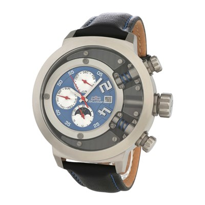 deLorean Gent�s Limited Edition Automatic Camshaft Watch with Leather Strap