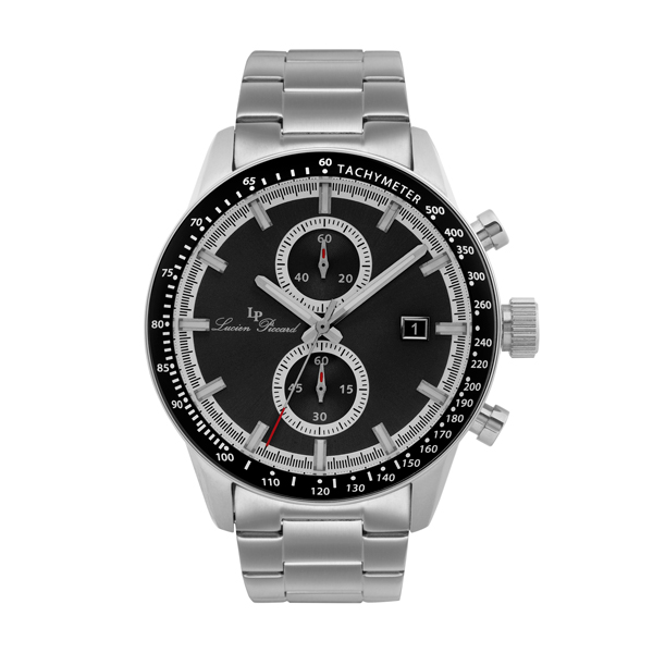 Lucien Piccard Gent's Grani Watch with Stainless Steel Bracelet Black
