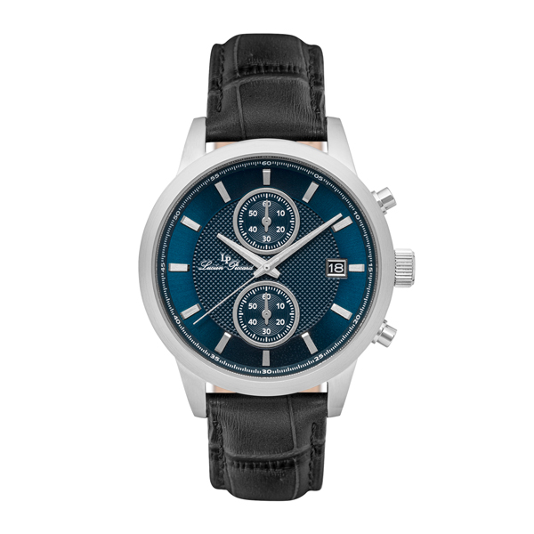 Lucien Piccard Gent's Clark Watch with Genuine Leather Strap Black